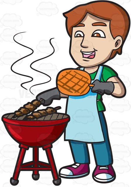 Bbq grill with clown clipart clip black and white download Download cooking barbecue clipart Barbecue Grilling Clip art clip black and white download