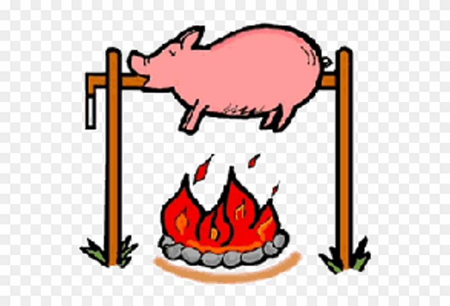 Bbq roasting pig clipart png black and white download Download Pig Roast Clip Art Clipart Pig Roast Barbecue - Healthy ... png black and white download