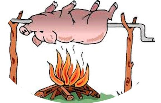 Bbq roasting pig clipart clip art freeuse library Hog Roast Clipart | backgrounds, clipart, images etc. in 2019 | Pig ... clip art freeuse library