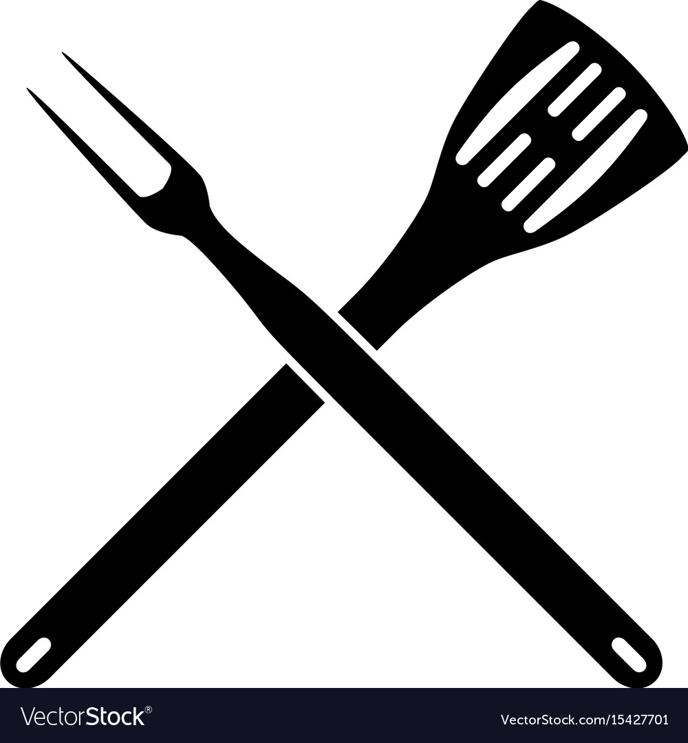 Bbq spatula clipart picture download Bbq barbeque tools crossed picture download