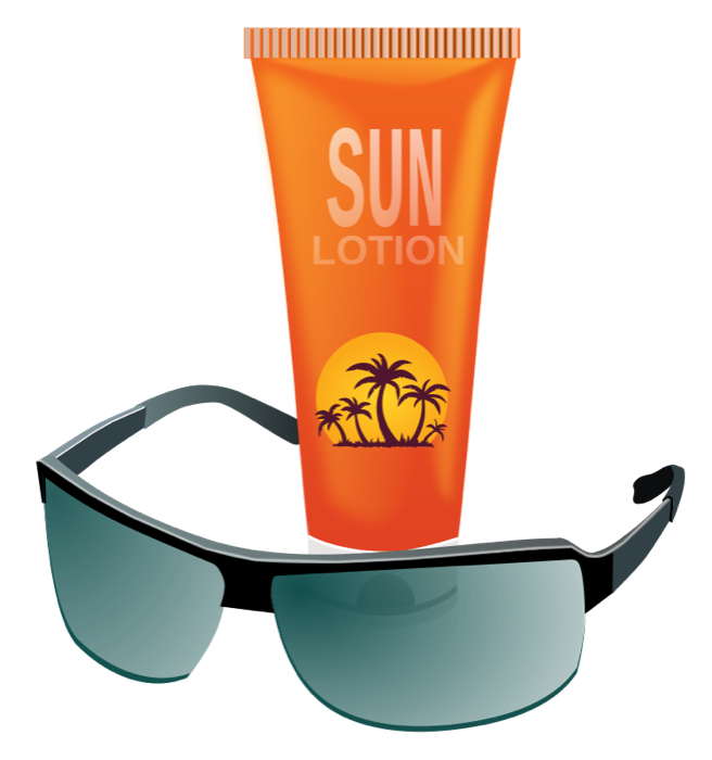 Sun safety clipart clip art transparent download Summer Clipart - Sun, Hot Weather, Beach and BBQ Graphics clip art transparent download