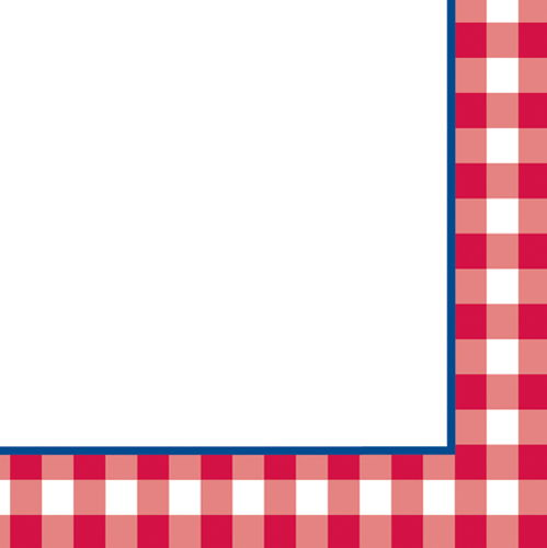 Red checkered border clipart free jpg black and white stock Picnic Border | Free download best Picnic Border on ClipArtMag.com jpg black and white stock