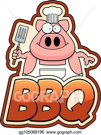 Bbq text clipart clipart black and white download EPS Vector - Cartoon pig and bbq text. Stock Clipart Illustration ... clipart black and white download