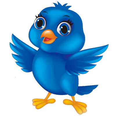 Cute blue bird clipart
