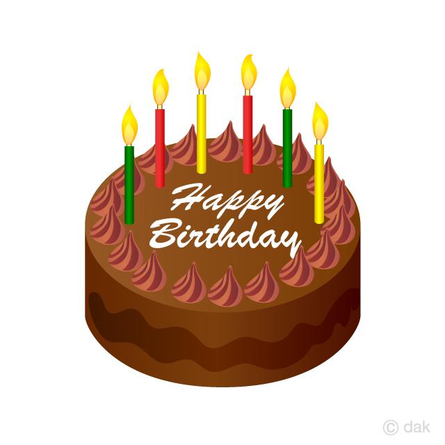 Bday cake clipart image freeuse stock Chocolate Birthday Cake Clipart Free Picture Illustoon image freeuse stock