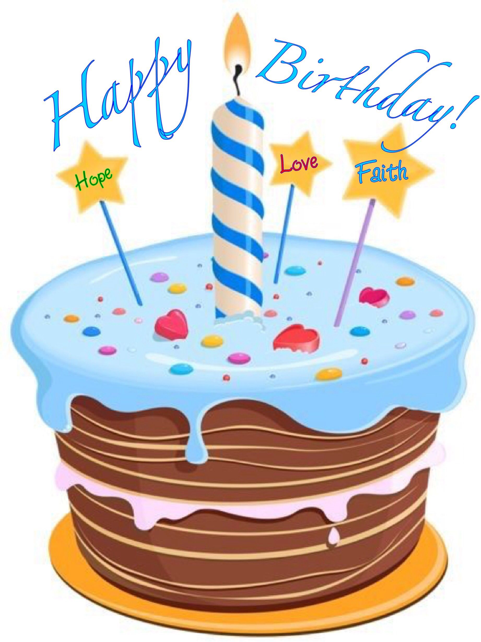 B day cartoon cake. Free clipart of happy birthday with 4 candle