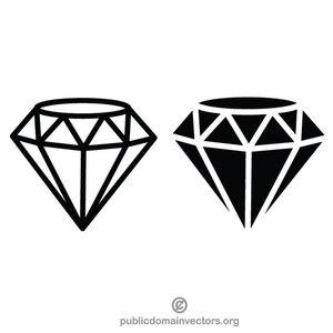 Bdiamond clipart jpg black and white 127 diamond free clipart | Public domain vectors jpg black and white