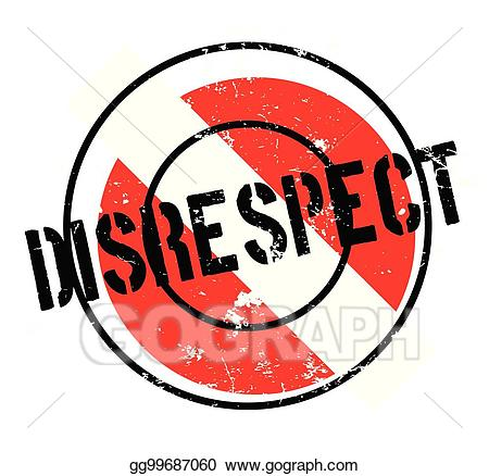 Be disrespectful clipart jpg freeuse library Vector Clipart - Disrespect rubber stamp. Vector Illustration ... jpg freeuse library