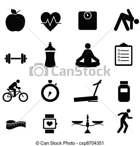 Fitness clip art vector. Be fit clipart