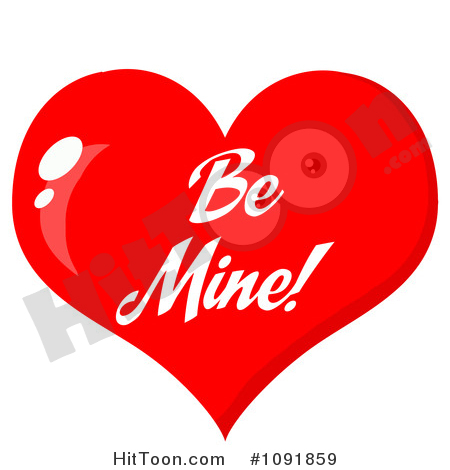 Be mine valentine heart clipart banner library download Valentine Clipart #1091859: Shiny Red Be Mine Valentine Heart by Hit ... banner library download