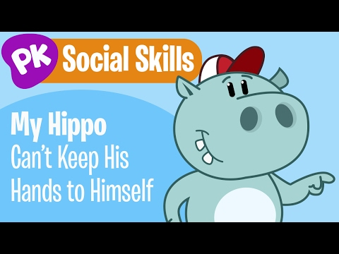 Be safe hands to self clipart svg stock My Hippo Can\'t Keep His Hands to Himself! Social Skills songs for ... svg stock