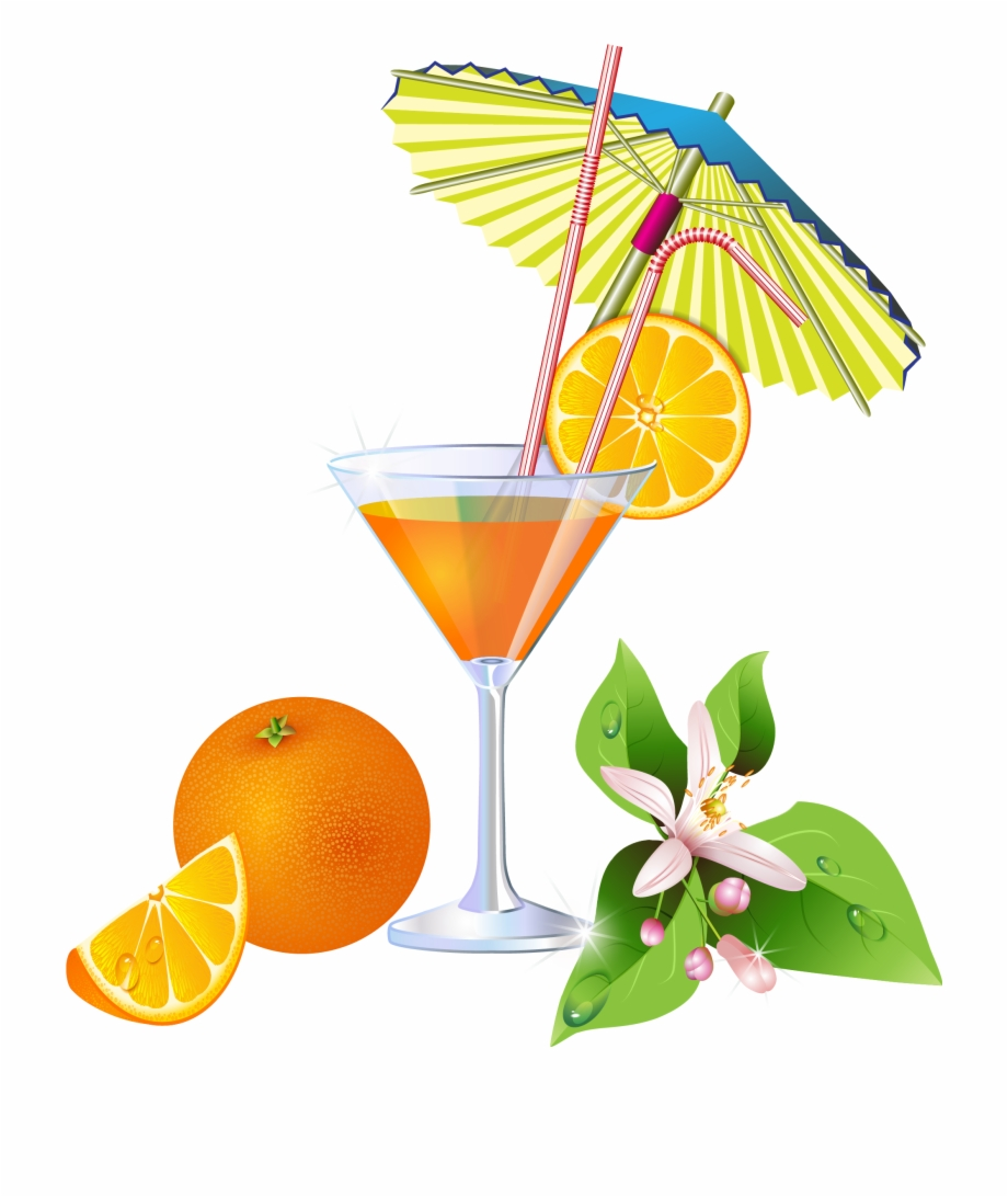 Beach and drinks clipart graphic black and white library Summer Orange Cocktail Png Clipart - Beach And Drink Clipart Free ... graphic black and white library