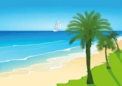 Beach background clipart free banner black and white Beach cartoon clipart free vector download (21,303 Free vector) for ... banner black and white