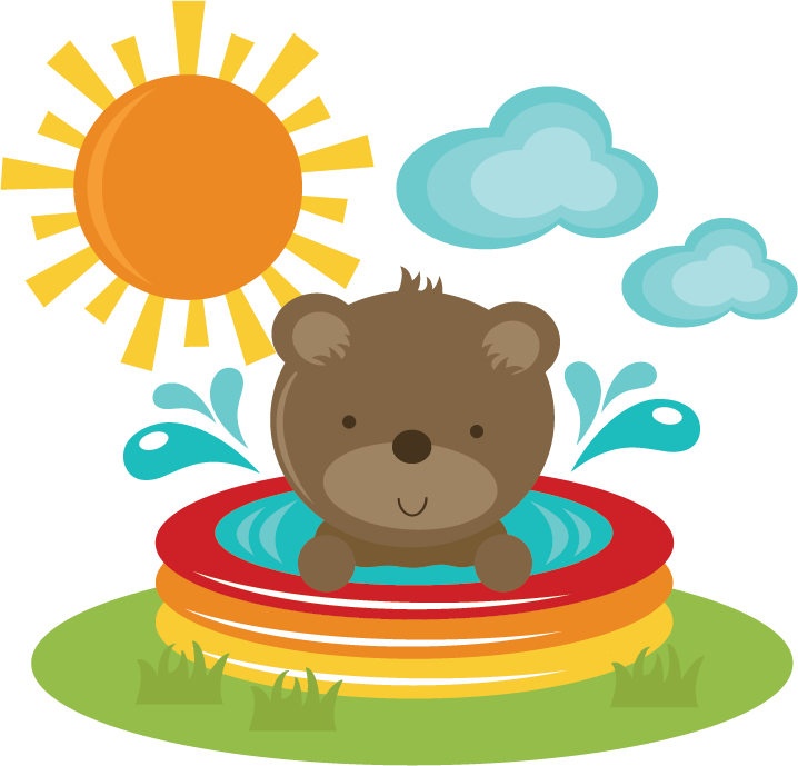 Beach bear clipart picture royalty free Bear In Pool SVG cut files for scrapbooking bear svg file beach svg ... picture royalty free