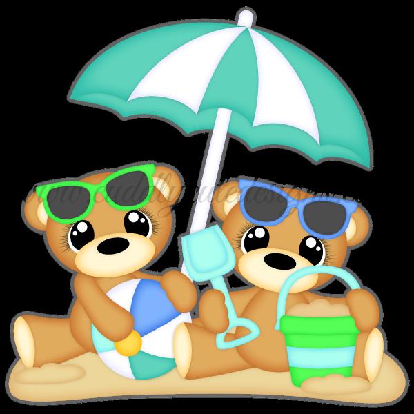 Beach bear clipart svg royalty free stock Beach Bears svg royalty free stock