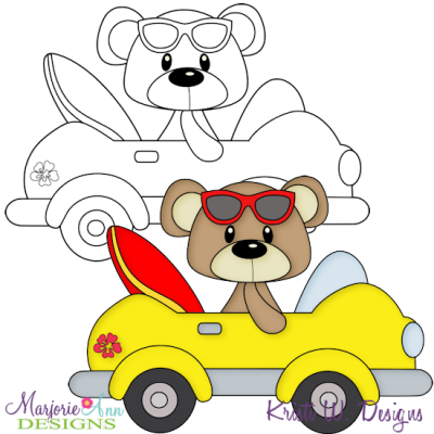 Beach bear clipart image royalty free download Beach Bear 4 Exclusive Digital Stamp + Clipart - $1.25 : Marjorie ... image royalty free download