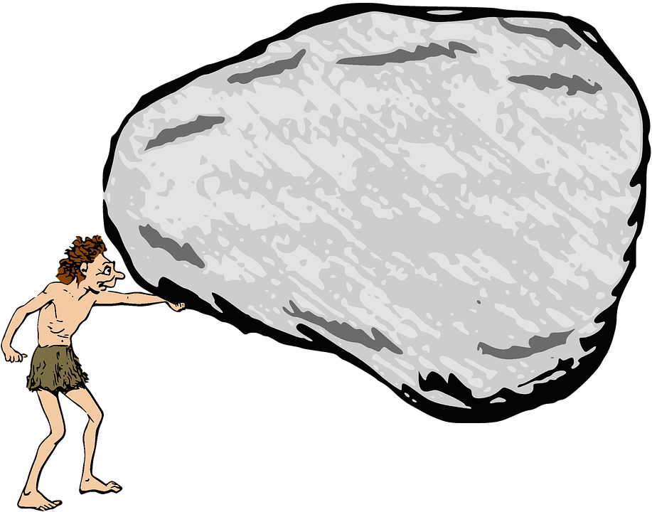 Beach boulder clipart black and white library Boulder Clipart Beach Rock - Caveman Rock , Transparent Cartoon ... black and white library