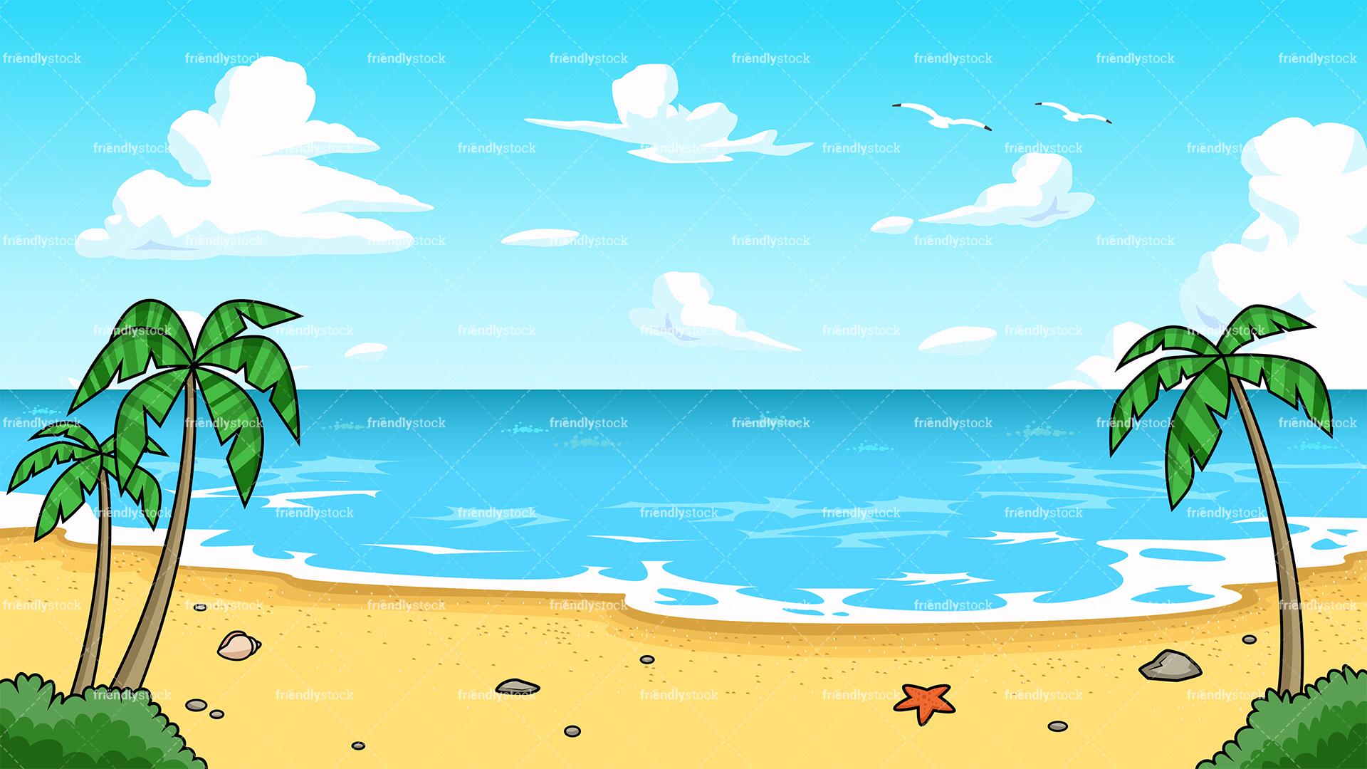 Beach cartoons clipart vector transparent stock beach cartoon - Honey & Denim vector transparent stock