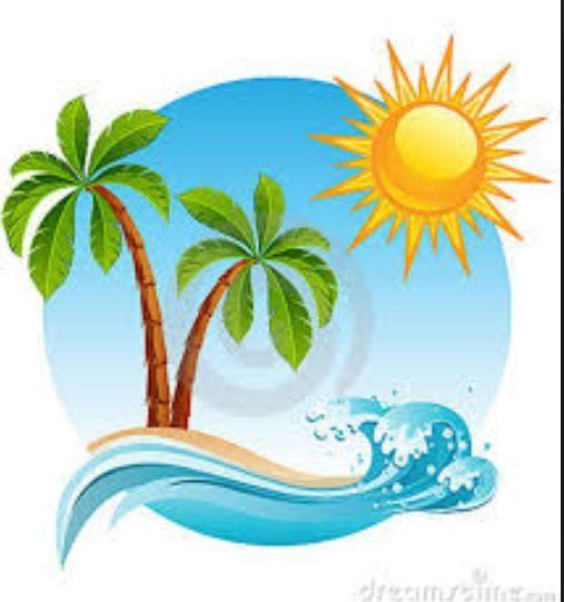 Tropical island baby clipart free download Cartoon beach | Tropical places in 2019 | Beach cartoon, Hawaiian ... free download