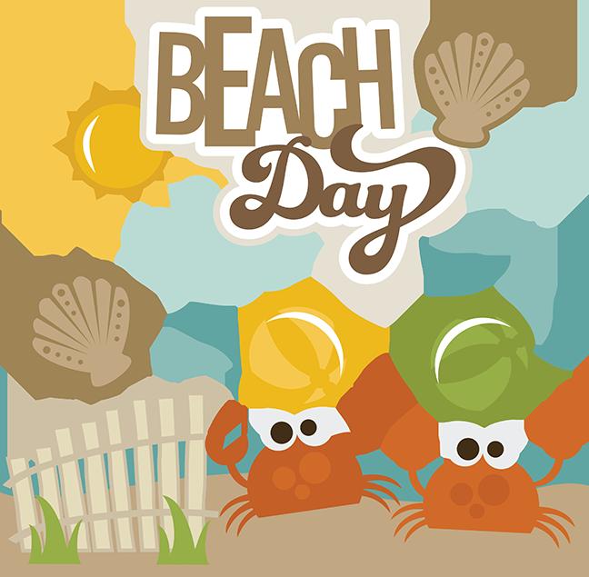Beach cat clipart vector transparent Beach Day - SVG Scrapbooking Files | Cuttable Scrapbook SVG Files ... vector transparent
