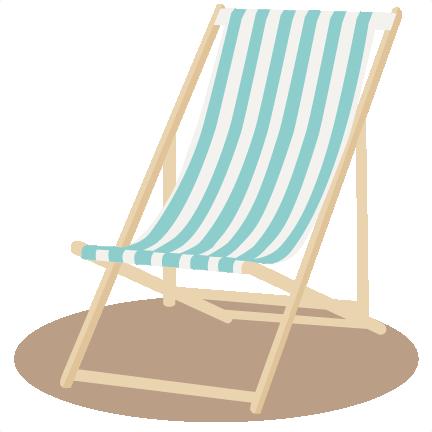 Beach chair clipart clip stock Beach Chair SVG scrapbook cut file cute clipart files for silhouette ... clip stock