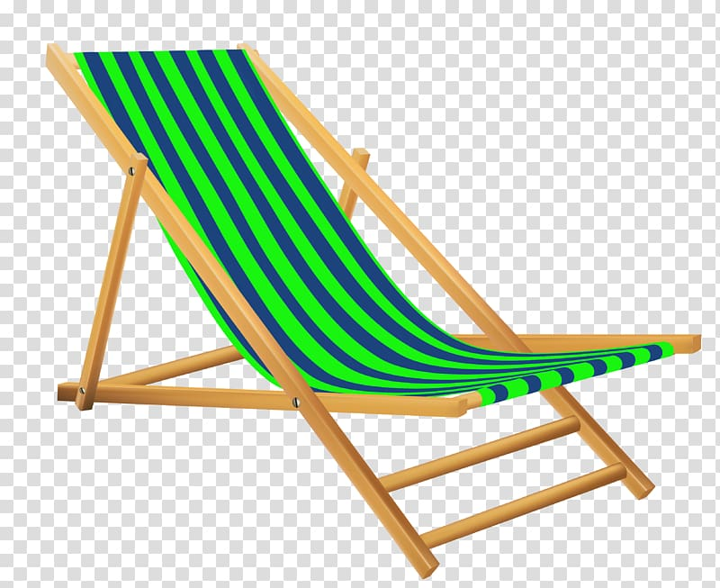 Beach chair clipart vector transparent library Brown, green, and blue patio lounge illustration, Green Beach Lounge ... vector transparent library