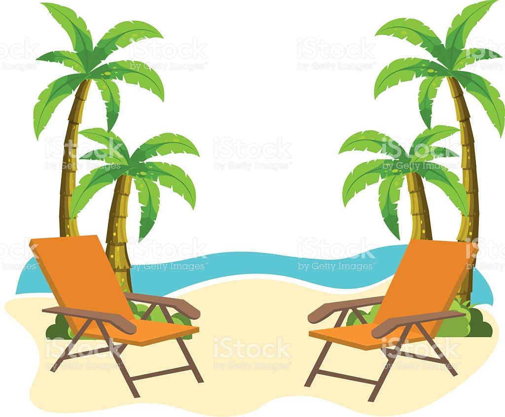 Beach chair umbrella palm tree christmas clipart png freeuse library Tropical Beach Clipart | Free download best Tropical Beach Clipart ... png freeuse library
