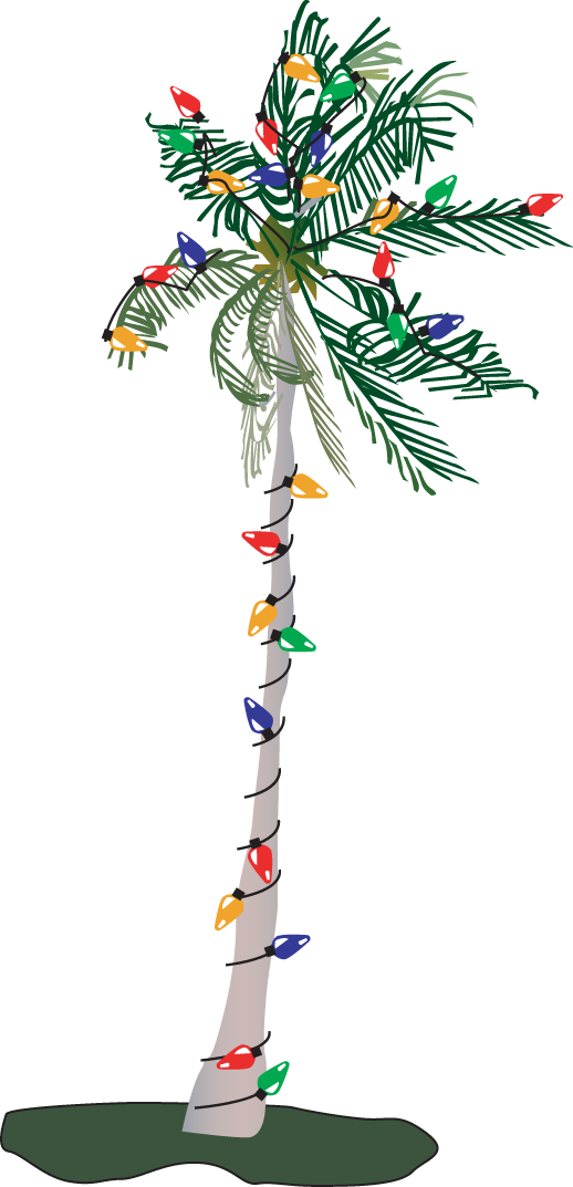 Free clipart palm tree with christmas lights banner free download 28+ Collection of Palm Tree With Christmas Lights Clipart | High ... banner free download
