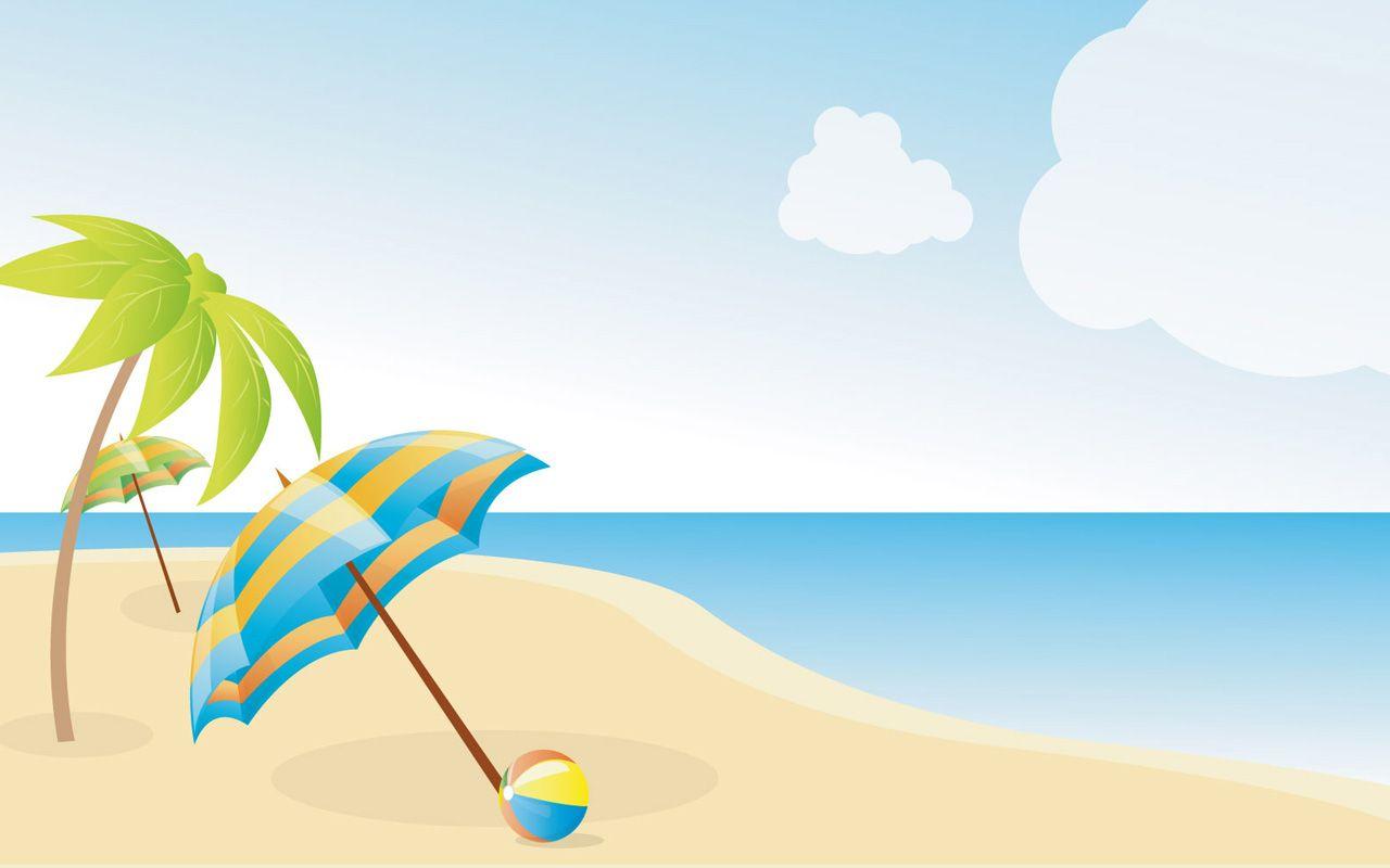 Beach sky clipart clipart royalty free stock beach clip art | Summer Beach Wallpapers X image - vector clip art ... clipart royalty free stock