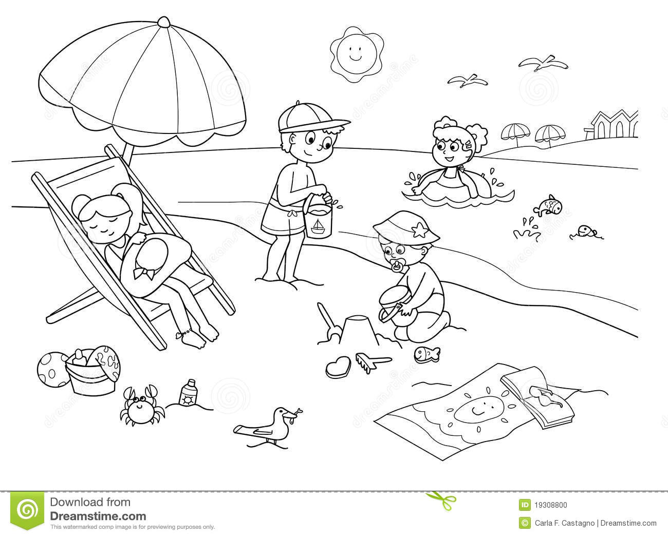 Beach clipart black and white jpg royalty free 20+ Beach Clipart Black And White | ClipartLook jpg royalty free