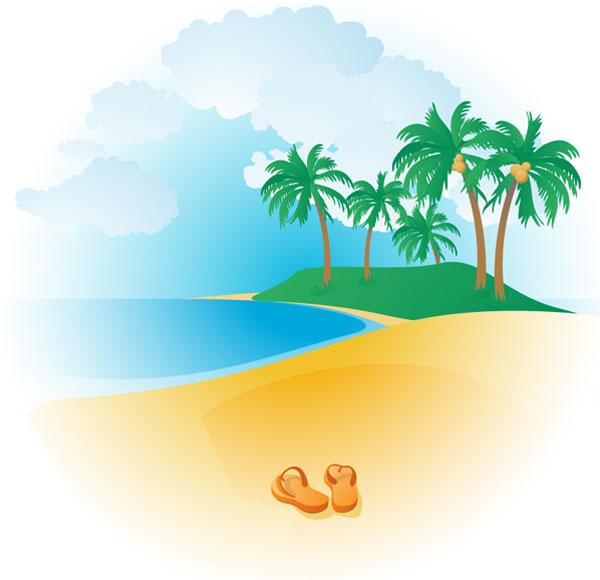 Beach clipart vector banner free Tropical Beach | Download Free Vector Art | Free-Vectors banner free