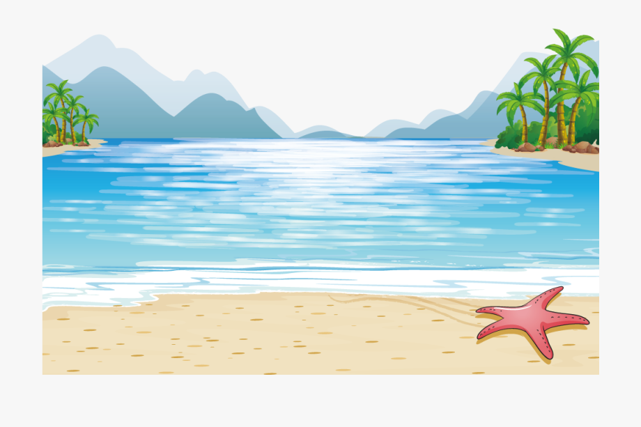 Ocean illustration clipart png free stock Mountains Illustration Vector Sea Child Beach Clipart - Family On ... png free stock