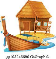 Beach cottage clipart vector Beach Cottage Clip Art - Royalty Free - GoGraph vector