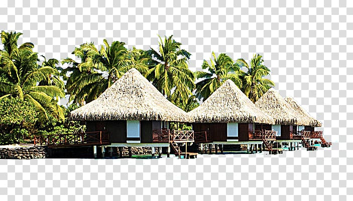 Beach cottage clipart picture freeuse Of four brown-and-red cottages, Bali Punta Cana Hotel Sofitel Bora ... picture freeuse