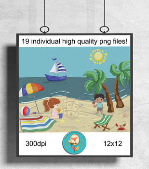 Beach cove clipart clip free stock 19 at the Beach Clip Art pieces, sailing, Summer party Clipart 300 dpi png  files clip free stock