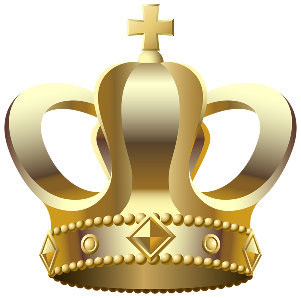Gold crown clipart no background transparent library Gold Crown Transparent PNG Clip Art Image | Gallery Yopriceville ... transparent library