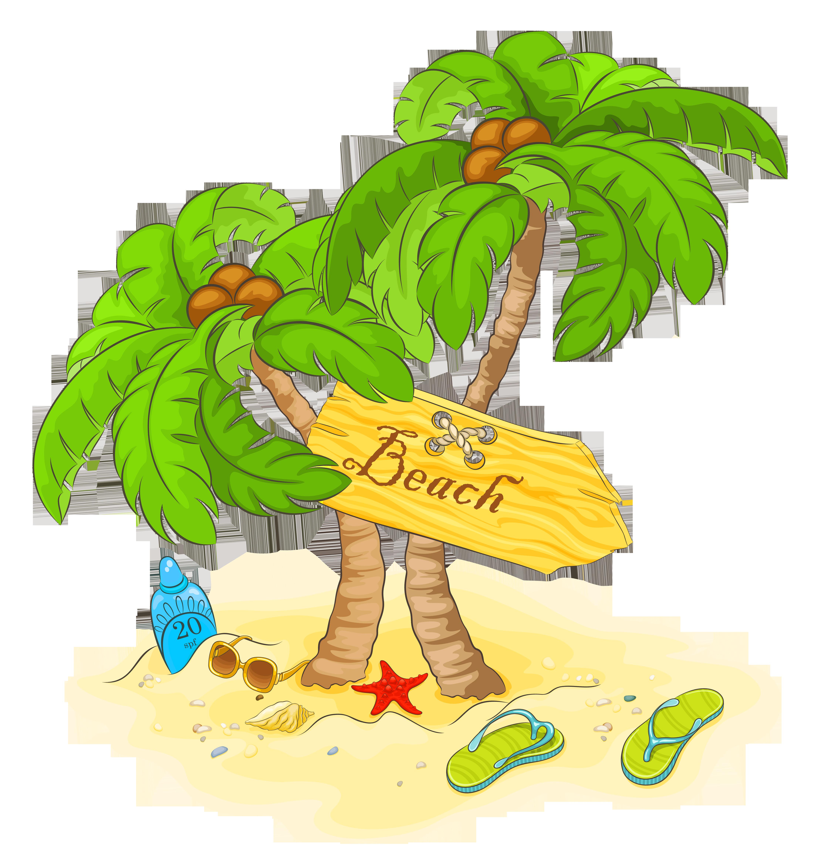 Beach ctrasnperant clipart image royalty free download Download Palm Decor Beach Transparent Free Transparent Image HQ ... image royalty free download