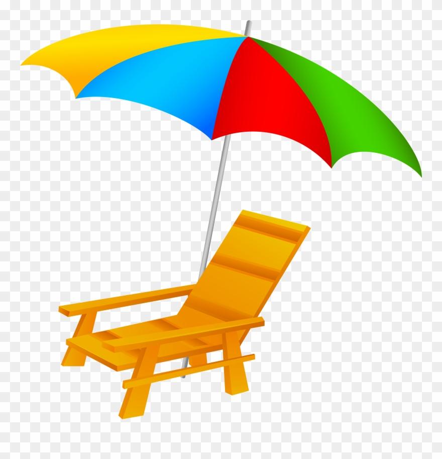 Beach ctrasnperant clipart svg black and white Beach Umbrella And Chair Png Clip Art - Beach Chair Clipart Png ... svg black and white
