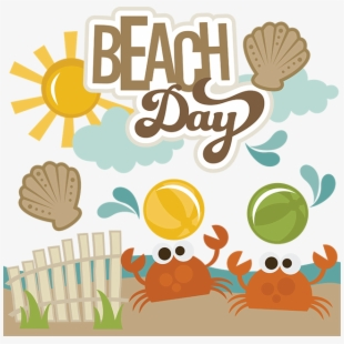 Beach day clipart picture free A Day At The Beach Clipart - Day At The Beach Clipart #316800 - Free ... picture free