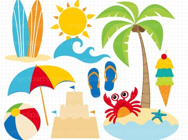 Beach day clipart clipart freeuse Clipart - A Day At The Beach   Meylah clipart freeuse