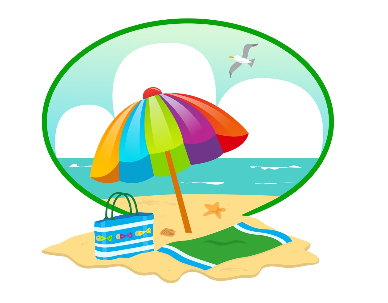 Beach day clipart clip transparent stock Summer Beach Day - Photoshop Vectors   BrushLovers.com clip transparent stock