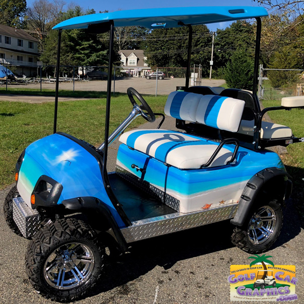 Beach decorated golf carts clipart picture library download Tropical Beach picture library download