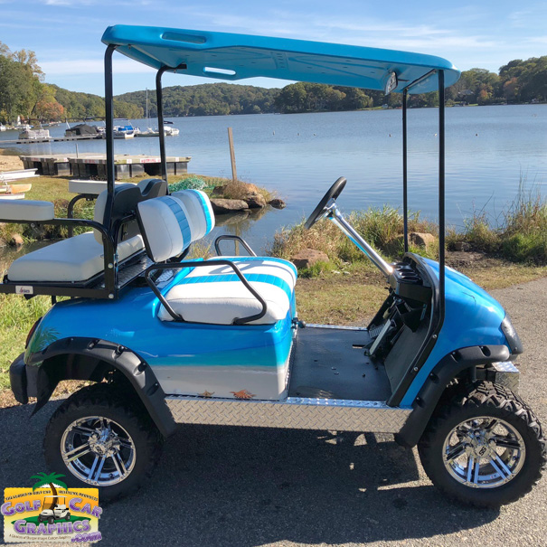 Beach decorated golf carts clipart picture Tropical Beach picture