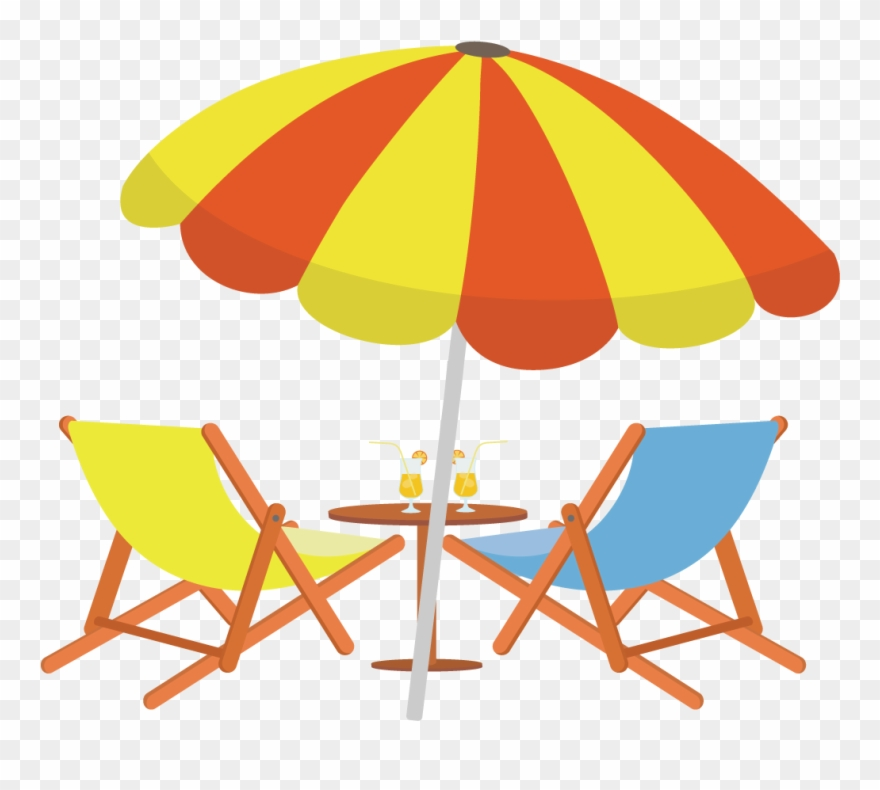 Beach drawings clipart image black and white Sighting Drawing Beach Chair - Beach Umbrella Vector Png Clipart ... image black and white