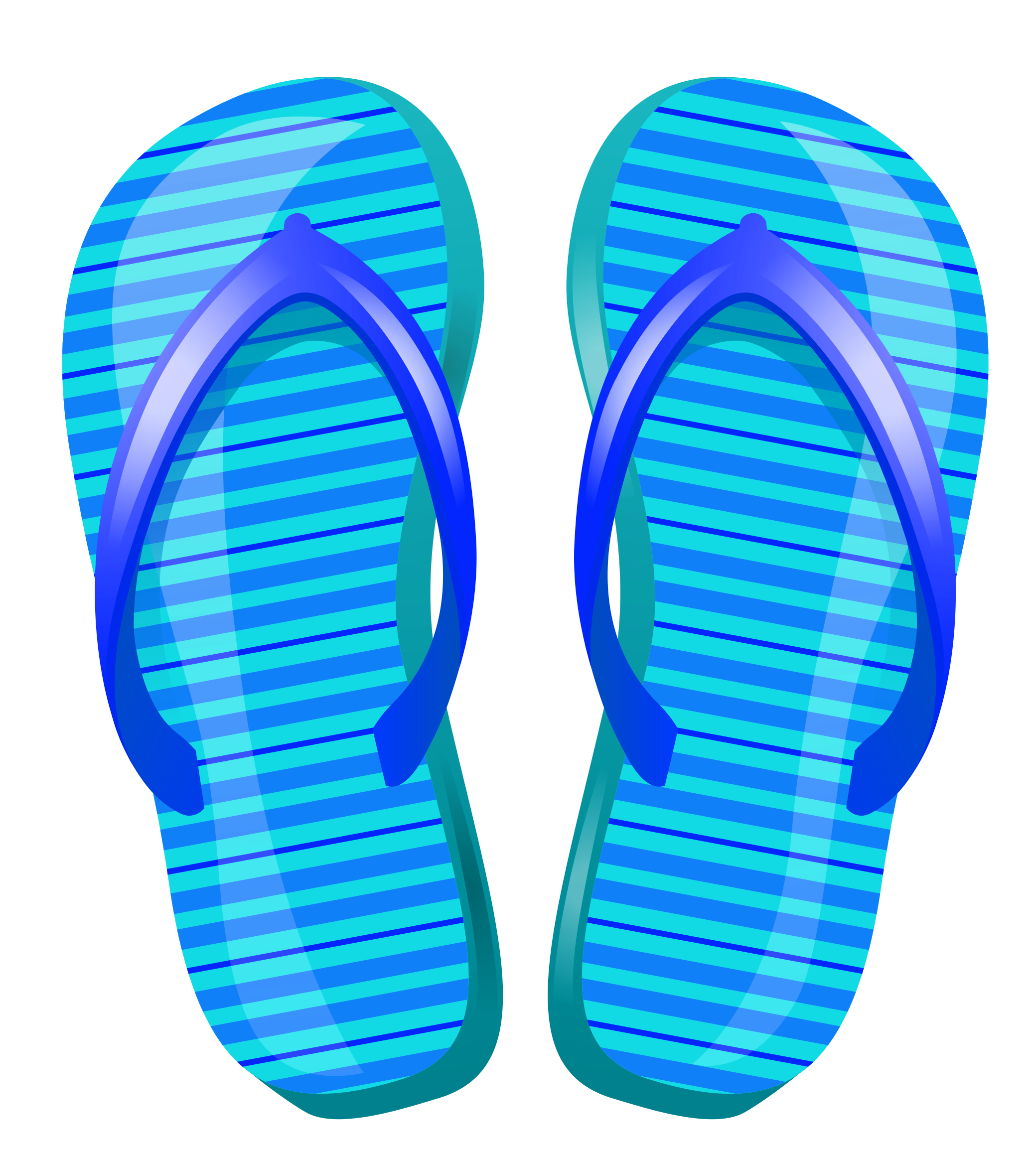 Beach flip flops clipart picture freeuse Blue Beach Flip Flops PNG Vector Clipart | Gallery Yopriceville ... picture freeuse