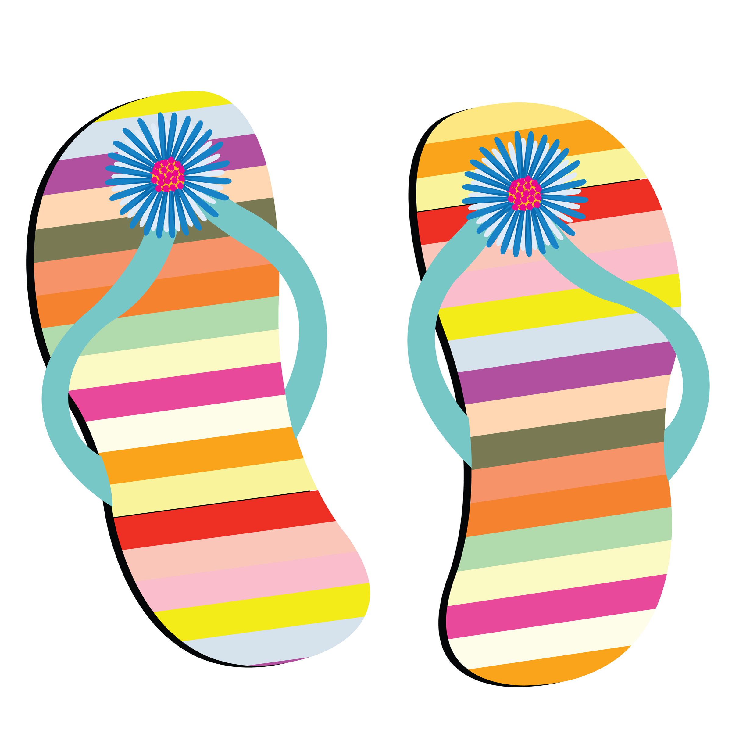 Free clipart images of flip flops png transparent download Free Beach Sandals Cliparts, Download Free Clip Art, Free Clip Art ... png transparent download