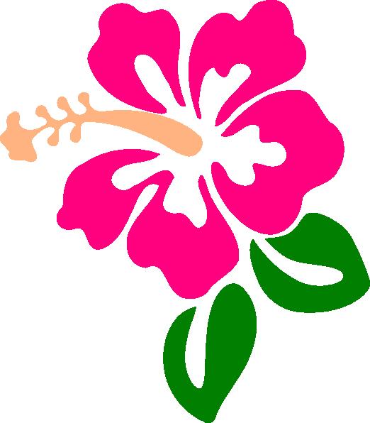 Beach flower clipart clip royalty free Hibiscus 9 Clip Art At Clker Com Vector Clip Art Online Royalty ... clip royalty free