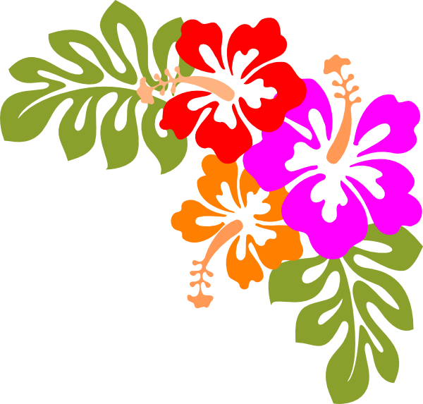 Beach flower clipart banner library Hawaiian Party Clipart - Clipart Kid | Digital art | Pinterest ... banner library
