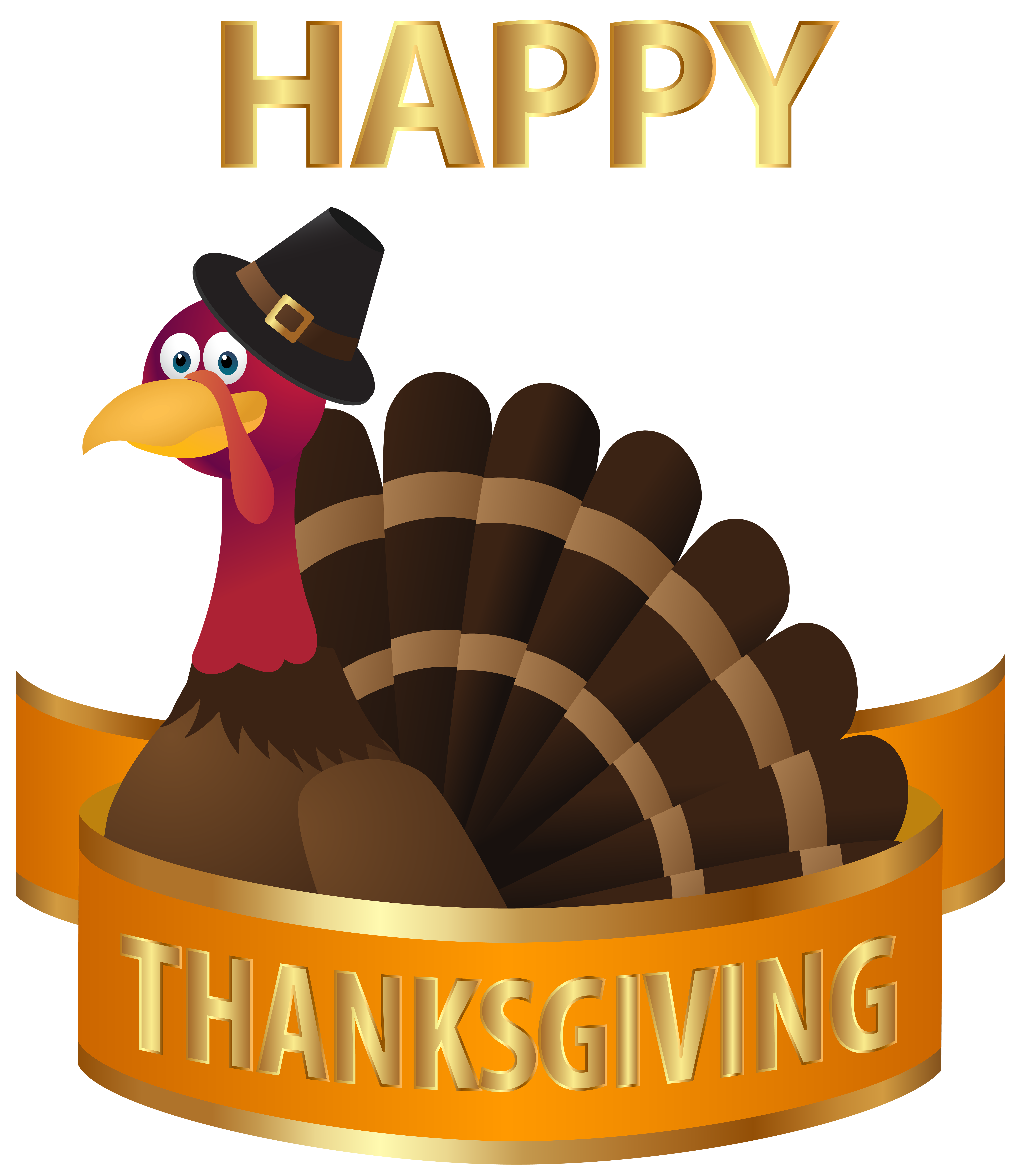 Beach happy thanksgiving clipart clip art library Happy Thanksgiving Turkey Transparent PNG Image | Gallery ... clip art library