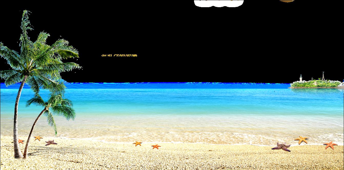 Beach hd clipart vector transparent HD And Sea Computer File The Beach Clipart - Beach Transparent PNG ... vector transparent